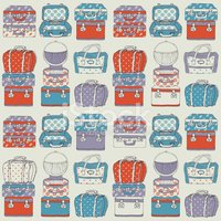 Hand drawn Travel bags vector seamless pattern