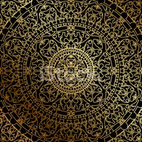 Morocco,Gold Colored,Patter...