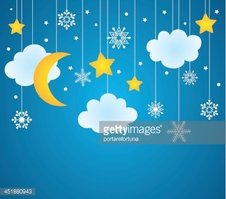 Christmas card or winter background. Night sky