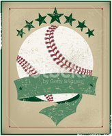 Baseball All-Star Background with Banner - Retro