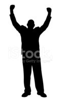Arms Raised,Silhouette,Busi...