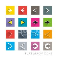 Flat Icon Arrows