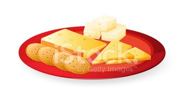 Cracker,Cheese,Plate,Single...