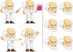 Cartoon,Scientist,Chemist,L...