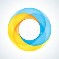 Abstract Circular Logo Design Element