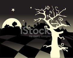 Spooky,Forest,Tree,Crow,Hor...