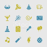 Party Icons - Color Series | EPS10