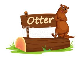 Otter,Outdoors,Single Objec...