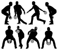 Bowling,Vector,Silhouette,T...