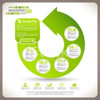 Infographic,Green Color,Bus...