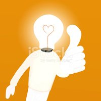 Cartoon of Light bulb man