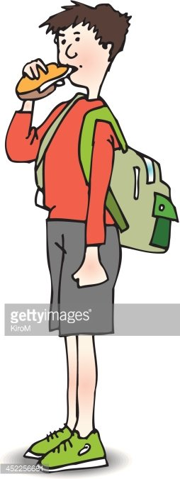boy with sandwich stock vectors clipart me School Bus Clip Art Short Bus Clip Art