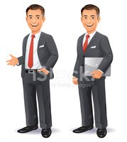 Businessman,Cartoon,Standin...