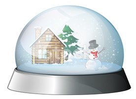 House,Snowball,Snow,Glass -...