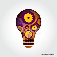 Gear,Light Bulb,Symbol,Crea...