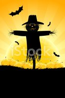 Scarecrow,Silhouette,Backgr...