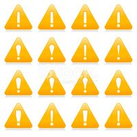 Yellow Triangle Warning Icon White Exclamation Mark Sign
