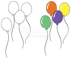 Balloon Sketch Clipart Images High Res Premium Images