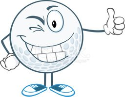 Toothy Smile,Golf Ball,Vect...