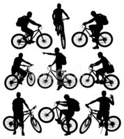 Cycling,Bicycle,Outline,Han...