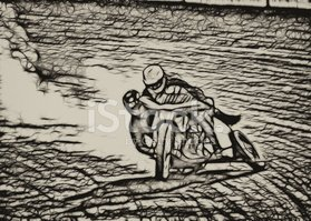 Motocross,Drawing - Art Pro...