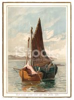 Fisherman,Postcard,Victoria...