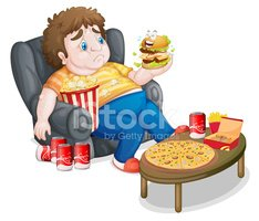 Overweight,Child,Eating,Bur...