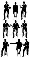 Silhouette,Men,Stool,Busine...