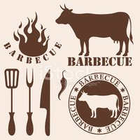 Barbecue Grill,Cow,Old-fash...