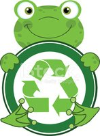 Frog,Recycling Symbol,Image...