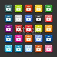 Padlock sign rounded square icon web internet button