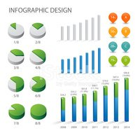 Detail info graphic vector illustration