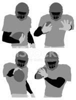 Silhouette,Football Player,...