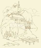 House,Obsolete,Old,Sketch,S...