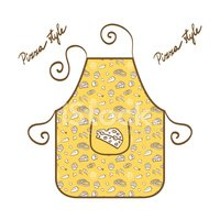 Stylish Apron Vector Illustration Clipart Images