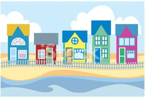 Beach Hut,Ilustration,House...