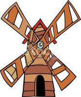 Windmill,Old,Drawing - Art ...