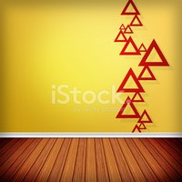 Flat,Abstract,Gold Colored,...