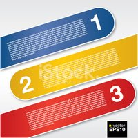 Three labels banners.