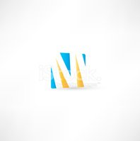 Letter M,Abstract,Vector,Ca...