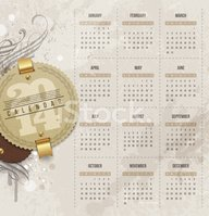 Calendar,2014,Monthly,Retro...