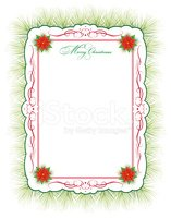 Christmas,Poinsettia,Frame,...