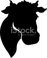 Cow,Animal Head,Silhouette,...