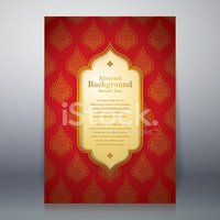 Asian  tradition art pattern cover design.