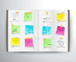 Infographic,Adhesive Note,L...