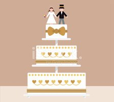 Wedding Cake,Vector,Bride,C...