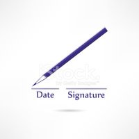 Pencil With Date And Signature Lines