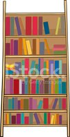 Bookshelf,Vector,Cartoon,Sh...
