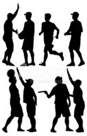 Silhouette,Holding,Motion,B...