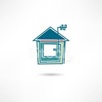 House,Computer Icon,Abstrac...